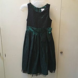 Deep Green Holiday Dress (Girls' 14)